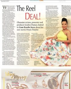 Joselyn Dumas 'Floods' 2 Big South African Newspapers